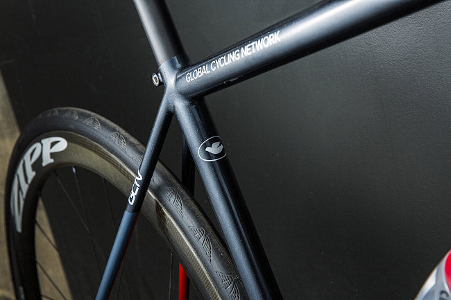 GCN bespoke road bike, fillet brazed seat stays, filed brass fillets, custom bicycle paint