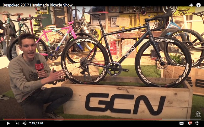 GCN youtube video still, GCN Bespoke Road Bike, GCN How to build a bike, Sram 1X custom road bike, Fillet brazed road bike, Zipp build kit, bespoked uk handmade bicycle show,