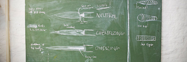Brazing torch diagram, how to braze, filet brazing, how to build a bike