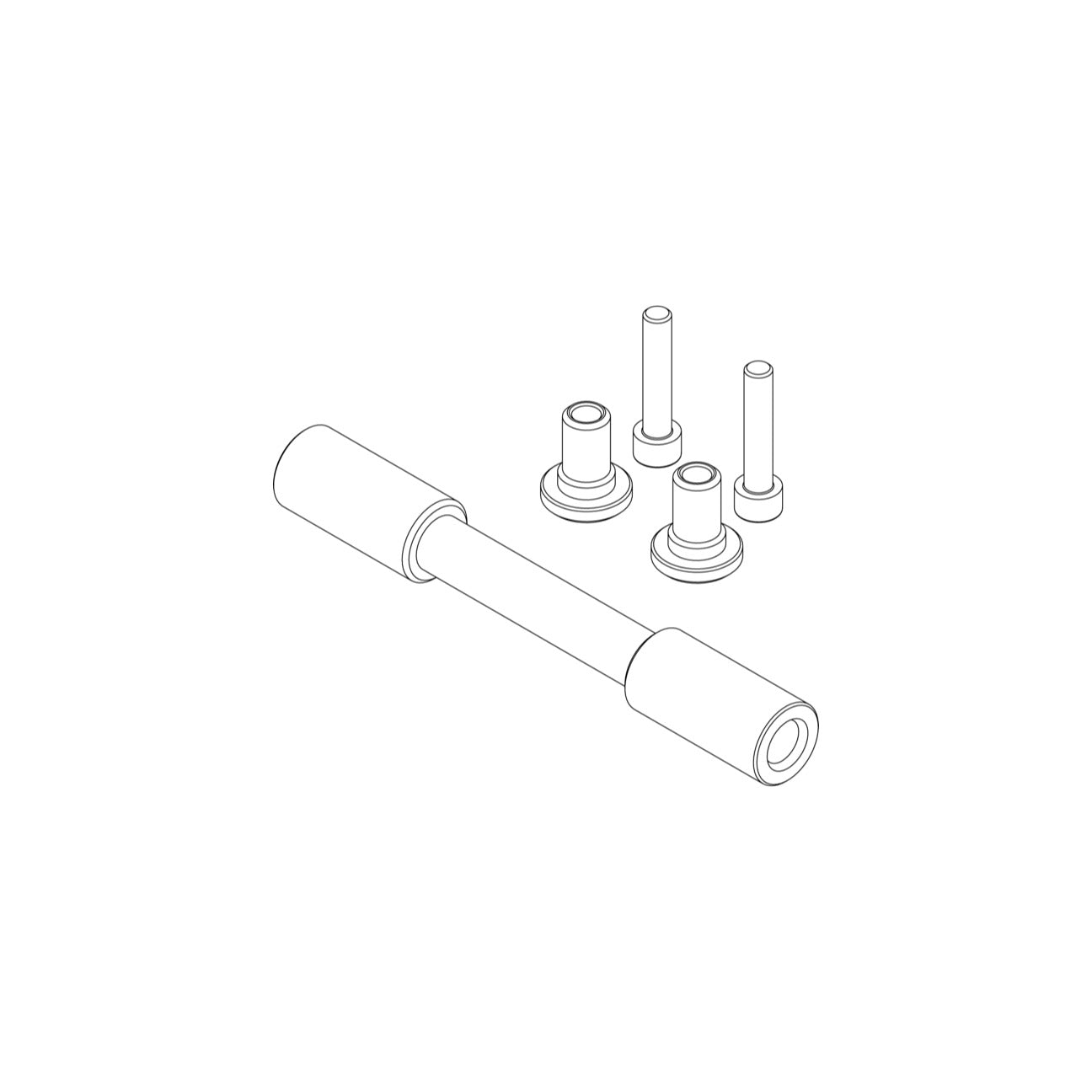 Academy Tools Dummy Axles + Adaptor Kits