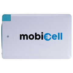 Ultra Thin Business Card Power Bank Charger - White - 2500 mAh - Mobicell