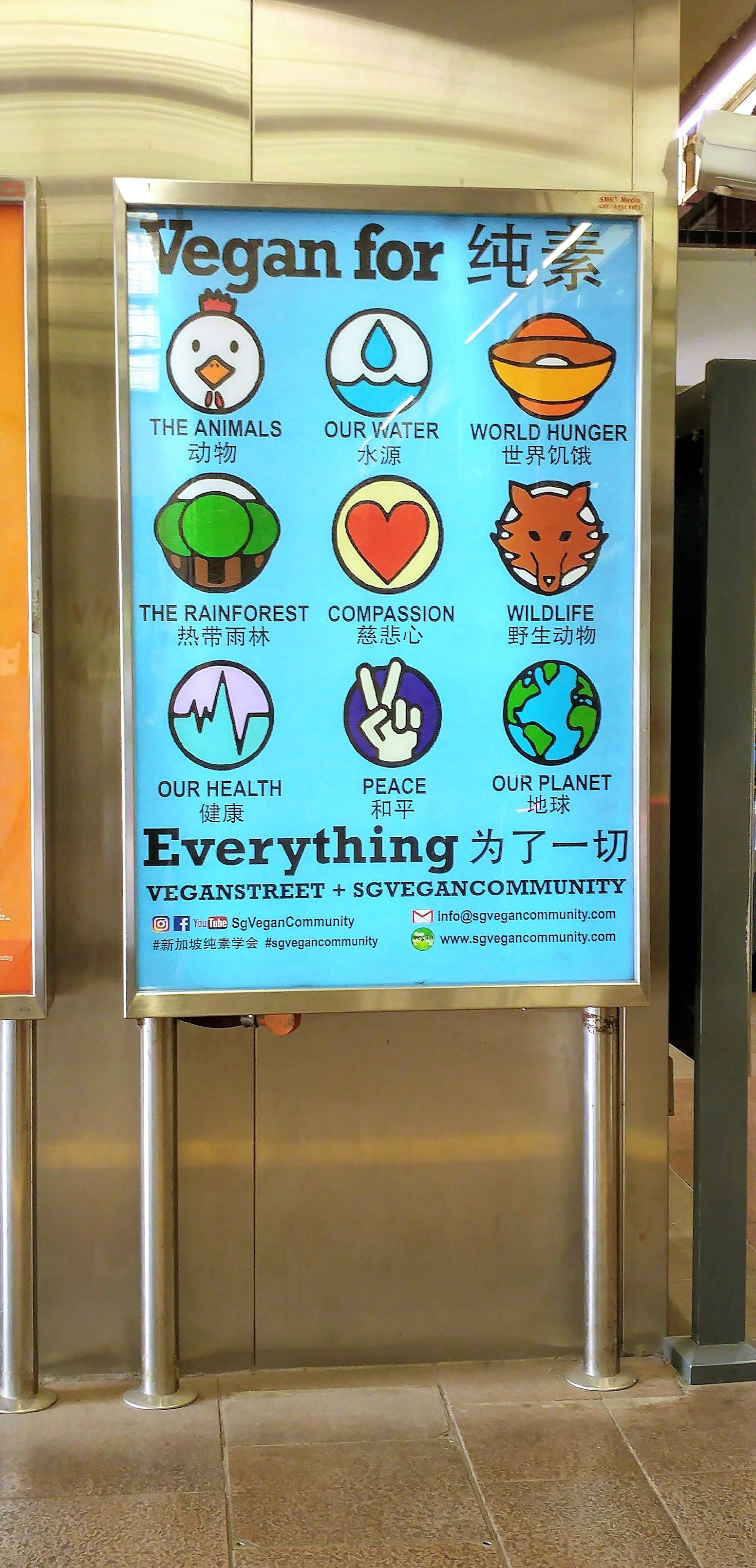 Vegan For Everything Poster