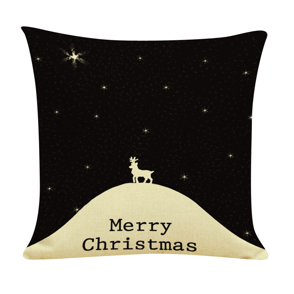 Christmas Linen Cushion Cover