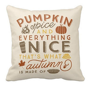 Pumpkin and Everything Nice Cushion Cover