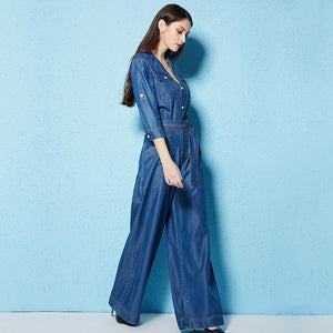 100% Tencel Denim Jumpsuit