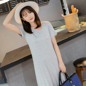 Modal Round Neck Tunic Dress