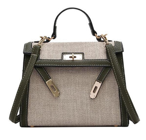 Luxury Linen Handbag