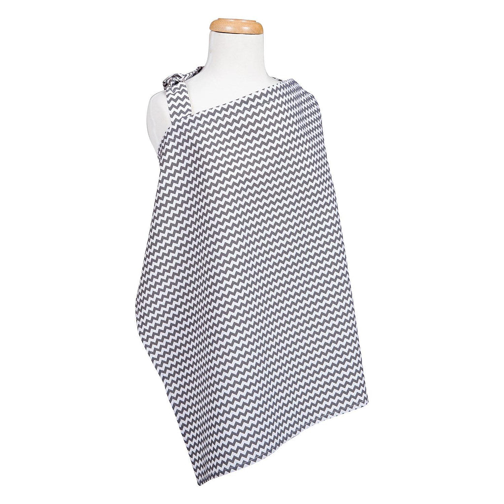 Bedtime Gray Chevron Nursing CoverTrend LabNursing CoverAOSS Medical Supply