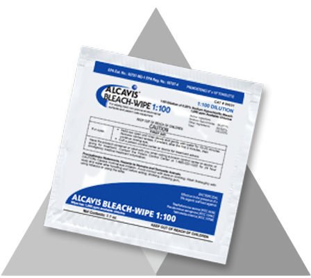 10 Pack- Surface Disinfectant Alcavis® Bleach-Wipe Premoistened Wipealcavisbleach wipeAOSS Medical Supply