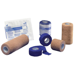 Cohesive Bandage Kendall™ 2 Inch X 5 Yard Standard Compression Self-adherent Closure Tan NonSterile