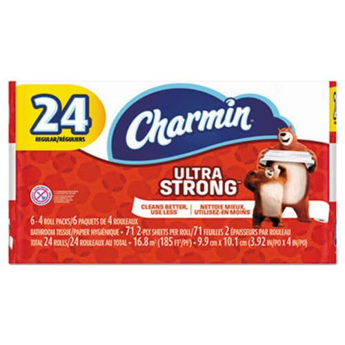 Charmin 2-Ply Bathroom Tissue, Ultra Strong, White, 71 Sheets Per Roll, Pack Of 24 RollsCharminToilet PaperAOSS Medical Supply