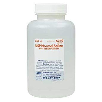 Sterile Saline Solution 250MLNDCNormal SalineAOSS Medical Supply