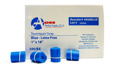 AOSS Tourniquet Synthetic Rubber 18 Inch BLUE (Latex-Free) - 100/ BOX