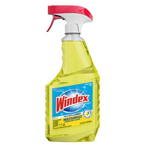Windex Multi-Surface Disinfectant, Lemon, 23 oz, 8 Spray BottlesSC JohnsonMulti-surface DisinfectanctAOSS Medical Supply