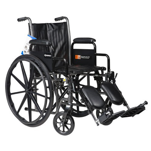 Dynarex DynaRide S2 Basic Wheelchair with Detachable ArmsAOSS Medical SupplyAOSS Medical Supply