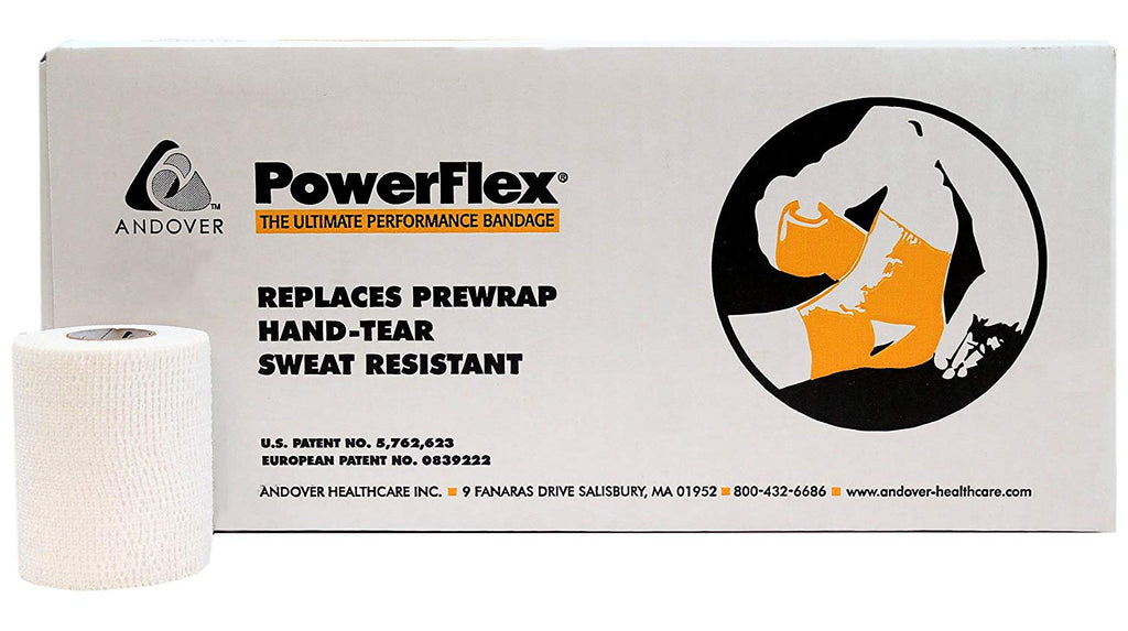 "Andover Powerflex® Self-Adherent Wrap, 1"" x 6 yds, White, Latex Free (LF), 48 rl/csAndover Healthcare, Inc.Athletic WrapAOSS Medical Supply"