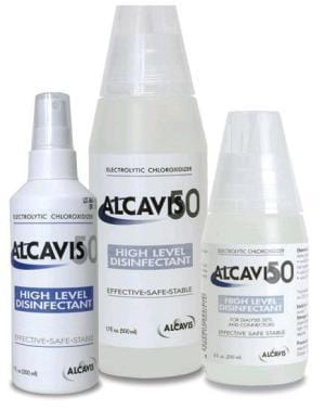 Alcavis 50 - High Level Disinfectant RTU Liquid 250 mL Bottle Max 180 Day Use (Once Opened) Chlorine Scent