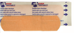 "AOSS Flexible Fabric Bandage 3/4"" by 3""AOSS Medical SupplyAdhesive BandagesAOSS Medical Supply"