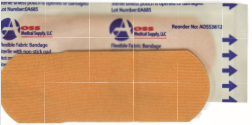 "AOSS Flexible Fabric Bandage 1"" by 3"" - AOSS Medical Supply"