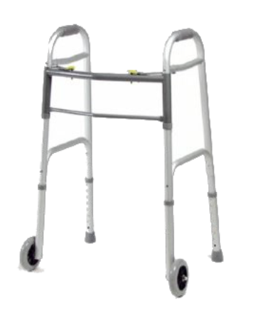 Dual-Release Folding Walker w/ Wheels (4/cs)