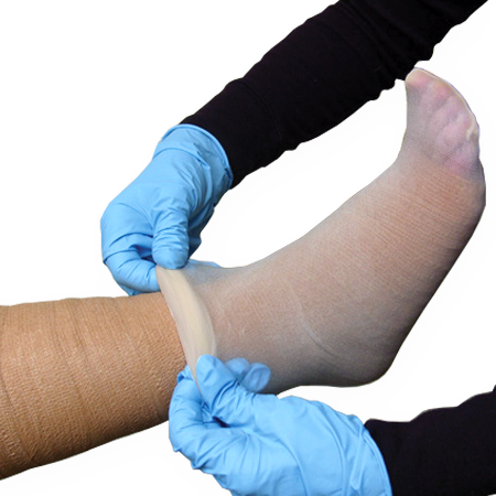 2 Layer Unna Boot, Lite, Coflex™ UBC 3 x 6 yds/4 x 6 yds TAN Absorbent Foam Dressing (Impregnated with Calamine or Zinc)