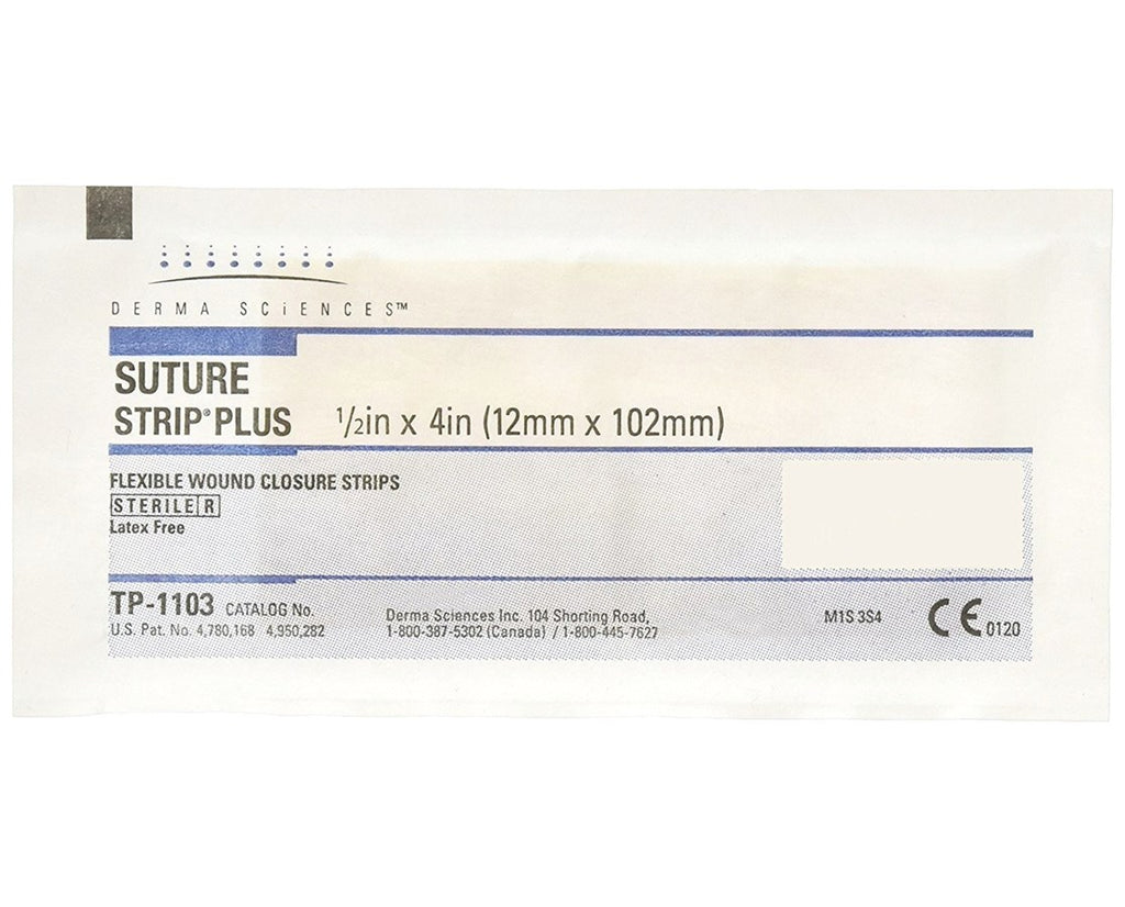 "Integra Lifesciences Suture Strip Plus Flexible Wound Closure Strips, ¼"" x 4""Integra LifeSciencesSuture StripAOSS Medical Supply"
