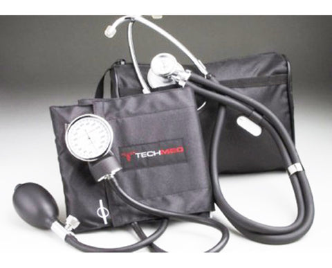 Sphygmomanometer Blood Pressure Combo Kit Tech-Med 22 Sprague (Black, Navy Blue, or Teal) - 1 Each