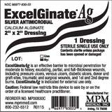 "MPM Medical ExcelGinate AG Calcium Alginate Dressing 2"" x 2""MPM MedicalCalcium Alginate DressingAOSS Medical Supply"