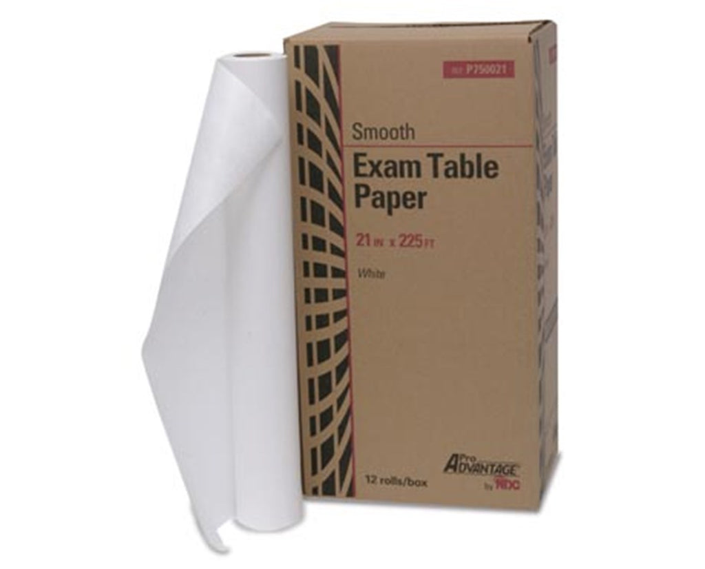 "Pro Advantage Exam Table Paper, 21"" x 225 ft, White, Smooth & CrepePro AdvantageExam Table PaperAOSS Medical Supply"