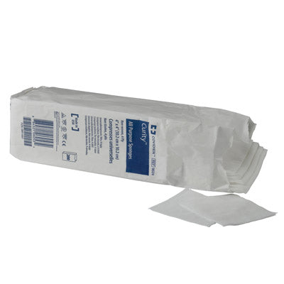 "Covidien Curity™ All Purpose Sponges, Non-woven, 4 Ply, 3"" x 3"" (Non-Sterile) - AOSS Medical Supply"
