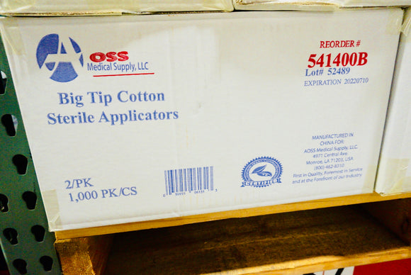 AOSS Big Tip Cotton Sterile Applicators (541400B)