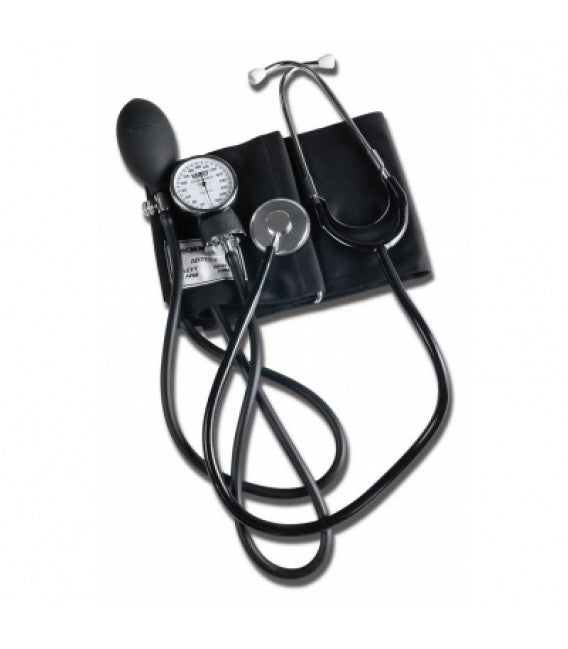 Home Blood Pressure Kit Tech-Med - Separate or Attached Stethoscope w/ Case (Black) - 1 EachDukal CorporationBlood Pressure KitAOSS Medical Supply