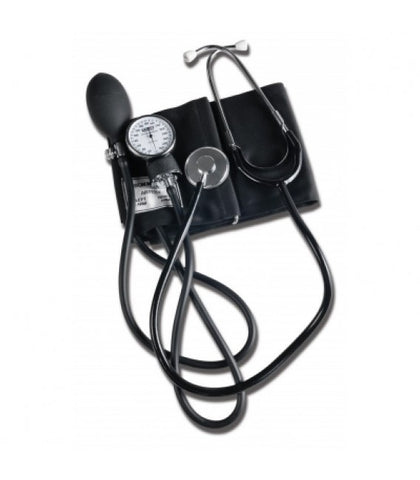 Home Blood Pressure Kit Tech-Med - Separate or Attached Stethoscope w/ Case (Black) - 1 Each