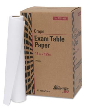 "PRO ADVANTAGE® Exam Table Paper, 18"" x 125 ft, WhitePro AdvantageExam Table PaperAOSS Medical Supply"