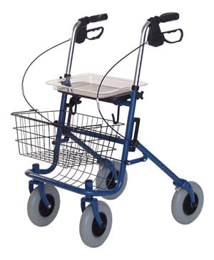 Deluxe 4-Wheel Rollator - Blue