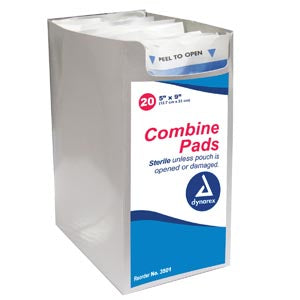 "Dynarex Secure Abdomnal Combine Pad, 5"" x 9"", SterileDynarexABD PadsAOSS Medical Supply"