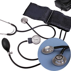 Blood Pressure Kit Dynarex (Dual OR Single Head Stethoscope) - 10/case