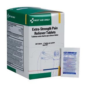 First Aid Only - Extra Strength Pain Reliever, 2/pk, 50 pk/bxFirst Aid OnlyPain RelieverAOSS Medical Supply