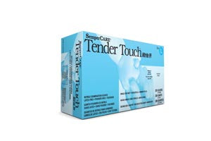 Exam Glove SemperCare® Tender Touch™ Nitrile Glove [PF] Textured Fingers