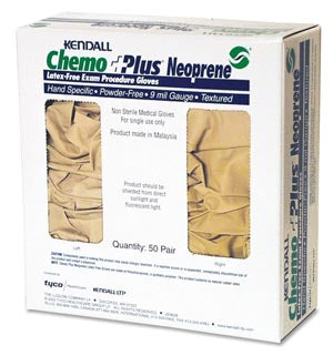 Exam Glove ChemoPlus™ NonSterile Beige [PF] Neoprene Hand Specific Textured Fingertips