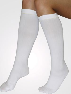 Anti-Embolism Stockings C.A.R.E.™ Knee High Medium, Regular White Inspection ToeAlbahealth, LLCAnti-embolism StockingsAOSS Medical Supply