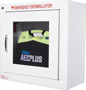 ZOLL AED Metal Wall Cabinet with AlarmAOSS Medical SupplyAED Wall MountAOSS Medical Supply