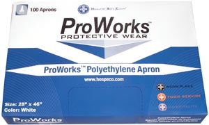 Hospeco Proworks® Disposable ApronsHospecoApronAOSS Medical Supply