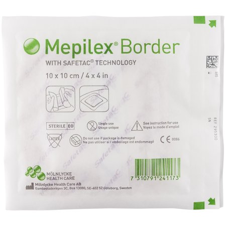 "Molnlycke Wound Care Mepilex Border 4"" X 4"" Self-Adherent Foam DressingMolnlycke Health Care US, LLCWound DressingAOSS Medical Supply"