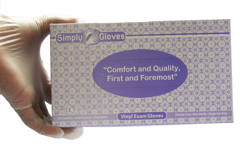 AOSS Simply Gloves® Powder-Free Vinyl Exam Gloves
