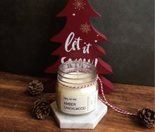 Seasonal Special ! Sandalwood Amber Soy Wax Candle