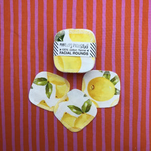 Reusable Facial Round- Vintage Lemons 循環再用化妝棉
