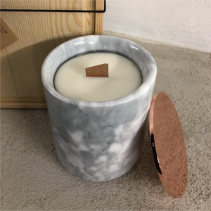 Soy Wax Candle- Marble Jar Edition