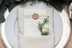 How to DIY Wax Seals for Wedding Invitations