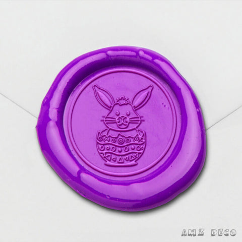 Bunny In Egg Wax Seal Stamp